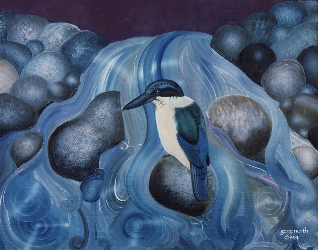 "©1981, Kingfisher, 11x14"", oil"