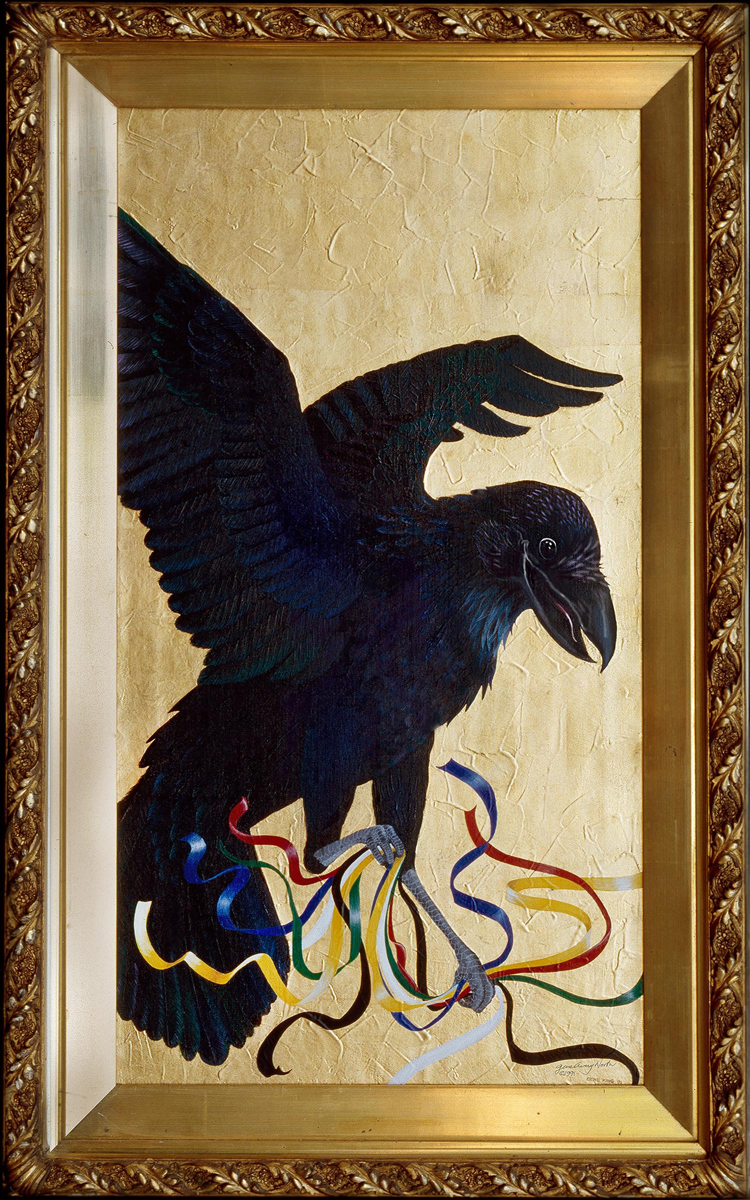 """©1991, Raven Makes Some Prayers, 20x32"""""""