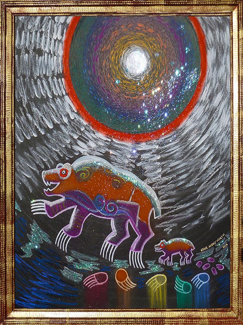 "©1999, Bear Family, 14x16"", pastel"