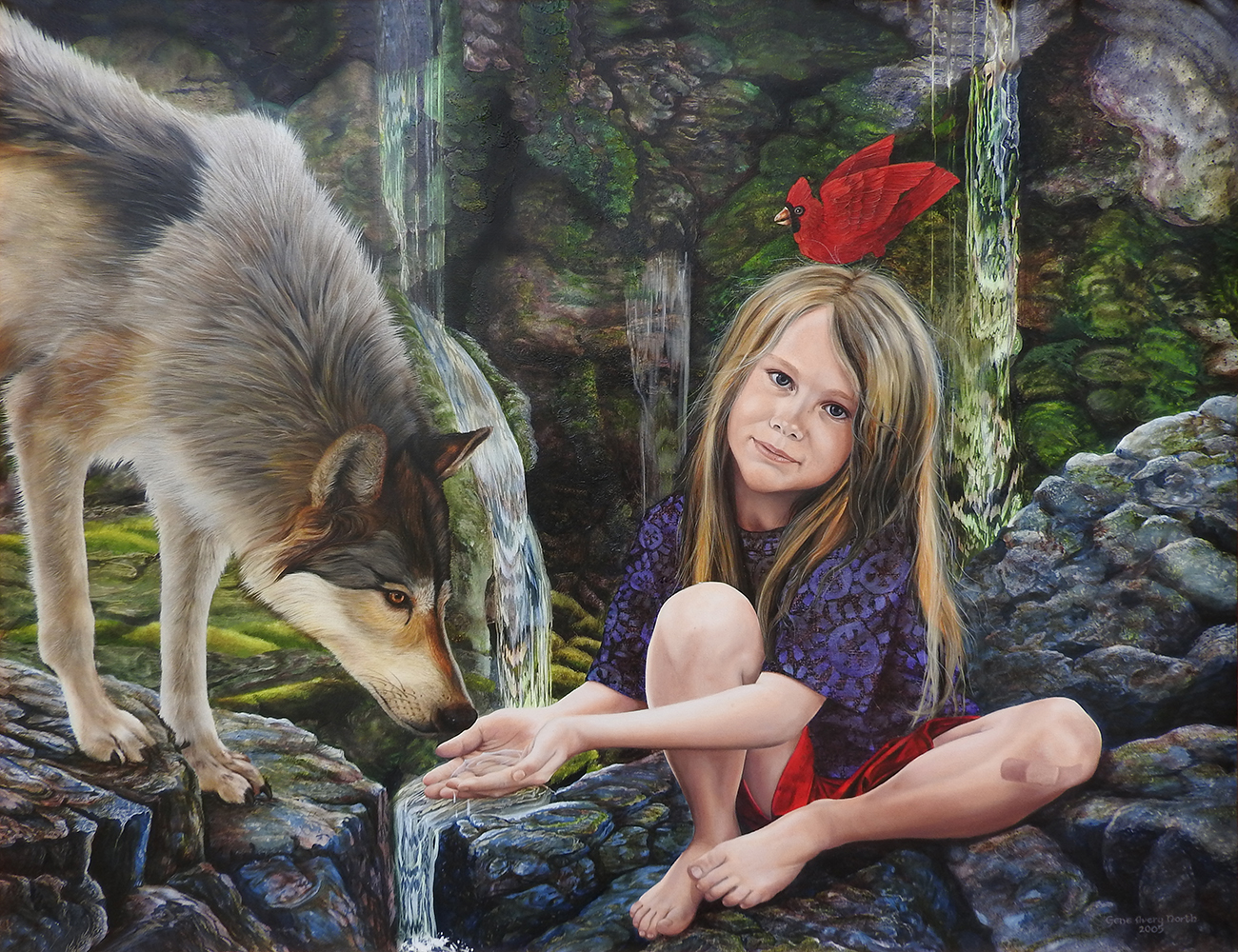 """©2005, Misha & Wolf, 20x26"""", oil"""