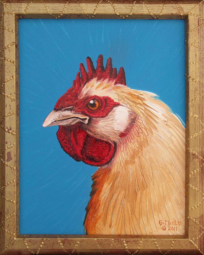 "©2011, Yellow Hen, 11x14"", oil"