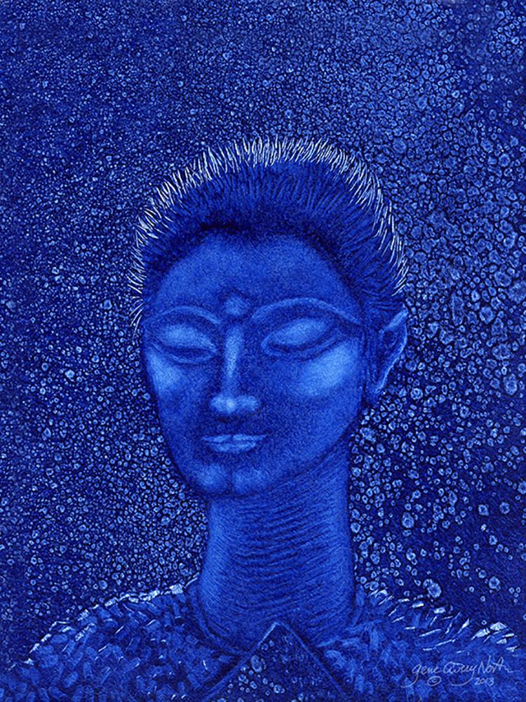 """©2013, Blue Man, 8x10"""", oil"""